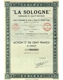''La Sologne'' Cie du Gaz & des Eaux