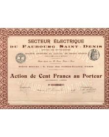 Secteur Electrique du Faubourg Saint-Denis (Station des Petites-Ecuries)