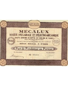 MECALUX Sté d'Eclairage et d'Electro-Mécanique