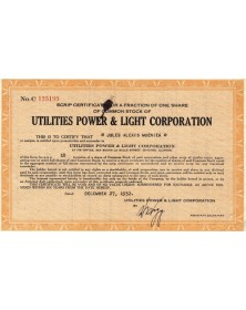 Utilities Power & Light Corp.