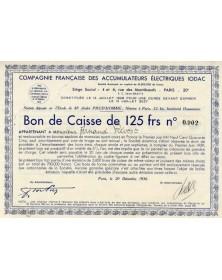 Cie Française des Accumulateurs Electriques IODAC