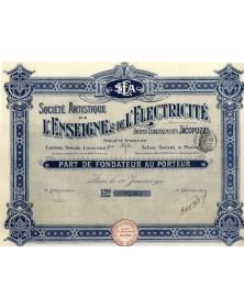 Sté Artistique de l'Enseigne & de l'Electricité. Anciens Ets Jacopozzi