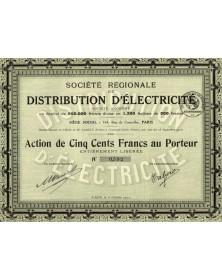 Sté Régionale de Distribution d'Electricité