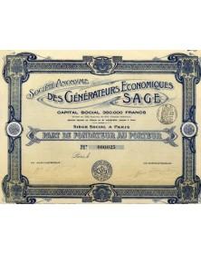 S.A. des Générateurs Economiques S.A.G.E.