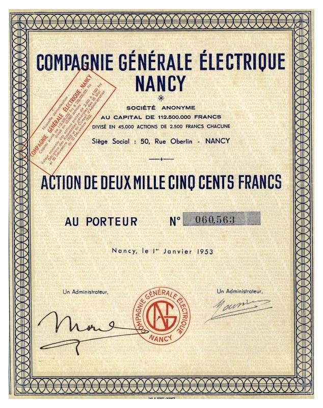 Cie Générale Electrique Nancy