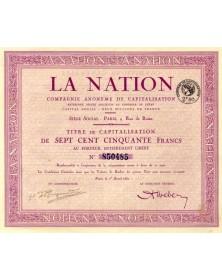 Finances La Nation, Cie Anonyme de Capitalisation