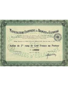 Manufacture Lyonnaise des Bronzes d'Eclairage