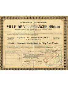 Cie d'Eclairage de la Ville de Villefranche