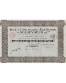 L.Goldenberg & Cie. Sté Métalurgique de Récupération