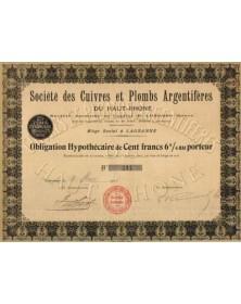 Cuivres et Plombs Argentifères du Haut-Rhône