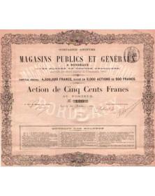 Cie Anonyme de Magasins Publics et Généraux à Bordeaux