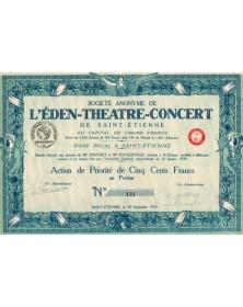 Sté de l'Eden-Théatre-Concert de St-Etienne