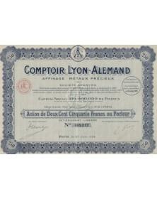 Comptoir Lyon-Alemand  Affinage - Métaux Précieux