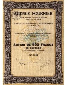 Agence Fournier. Services Télégraphiques, Téléphoniques et Postaux