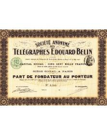 Sté des Télégraphes Edouard Belin
