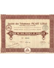 Sté des Téléphones Picart Lebas