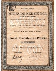Cie des Mines de Fer de Goa (Indes Portuguaises)