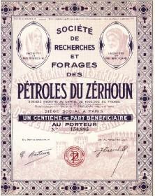 Sté de Recherches et Forages des Pétroles du Zérhoun