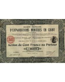 Sté Française d'Explorations Minières en Chine