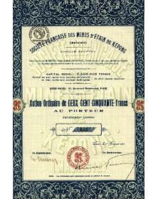 Sté Française des Mines D'Etain de Képong