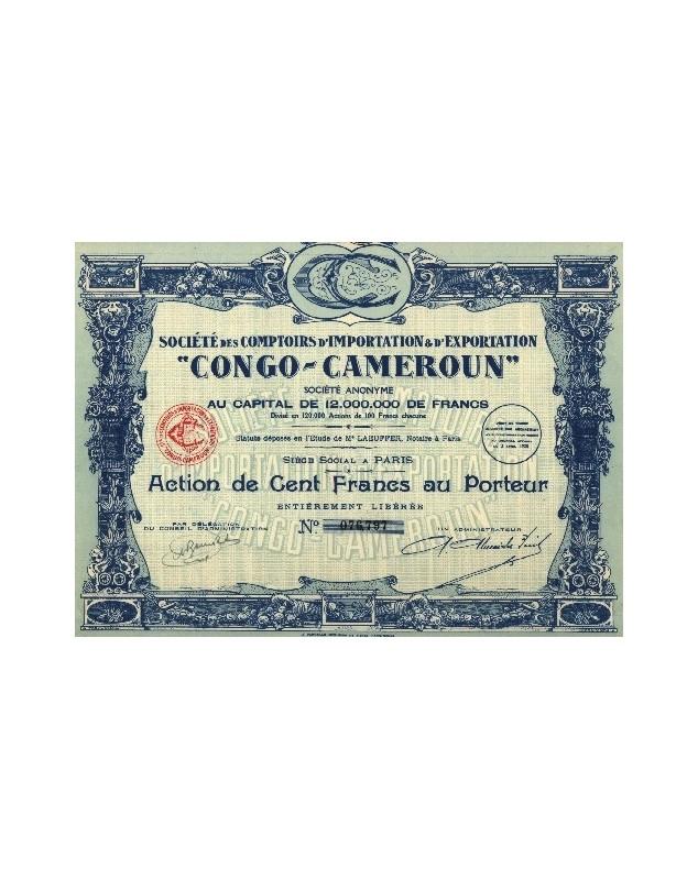 Sté des Comptoirs d'Importation & d'Exportation ''Congo-Cameroun''