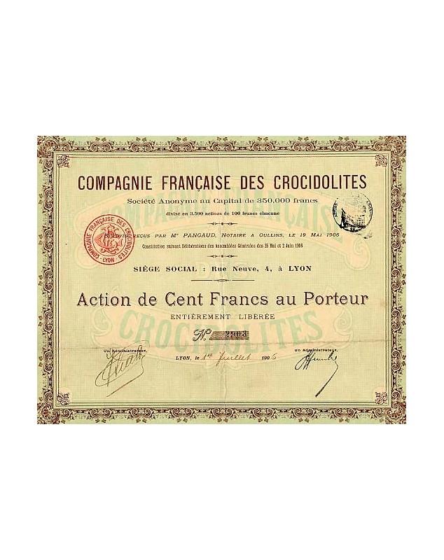Cie Française des Crocidolites