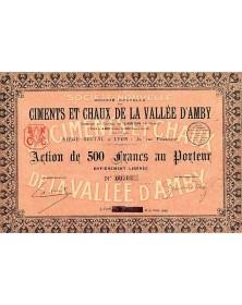 Sté Nouvelle des Ciments et Chaux de la Vallée d'Amby