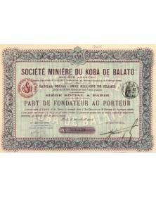 Sté Minière du Koba de Balato Bresil