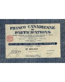 Sté Franco Canadienne de Participations