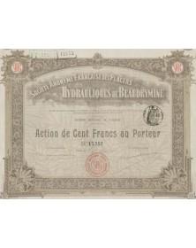 S.A. Française des Placers Hydrauliques de Beaudrymine