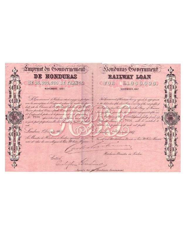 Emprunt du Gouvernement de Honduras. Honduras Government Railway