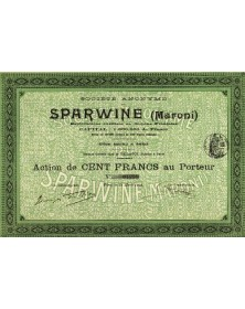 Sté Sparwine (Maroni)