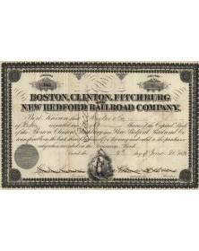 Boston, Clinton, Fitchburg New Bedford Railroad Co.
