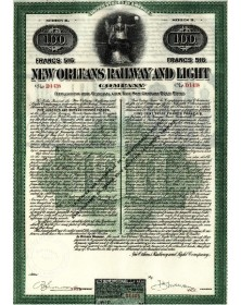 New Orleans Railway and Light Co. Cie des Chemins de Fer d'Eclairage de la Nouvelle Orléans