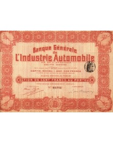 Banque Générale de l'Industrie Automobile