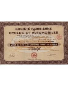Sté Parisienne de Cycles et Automobiles