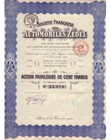 Sté Française des Automobiles Zedel