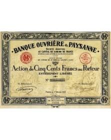 Banque Ouvrière & Paysanne