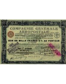 Cie Générale Aéropostale, Anciennement Cie Générale d'Entreprises Aéronautiques