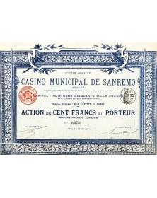 Sté du Casino Municipal de Sanremo (Italie)