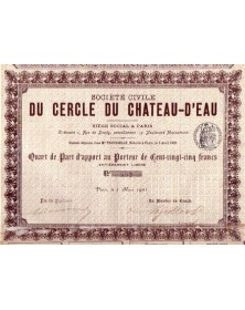 Sté Civile du Cercle du Chateau-d'Eau