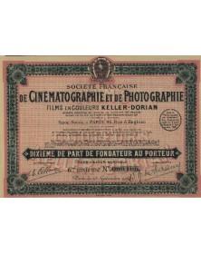 Sté Fse de Cinéma. et de Photographie Films en Couleurs Keller-Dorian