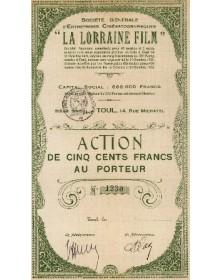 Sté Générale d'Entreprises Cinématographiques ''La Lorraine Film''