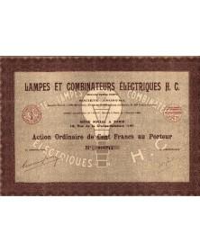 Lampes et Combinateurs Electriques H.C.