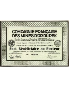 Cie Française des Mines d'Or du Pek