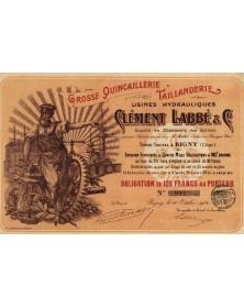Usines Hydrauliques Clément Labbé. Grosse Quincaillerie, Taillanderie