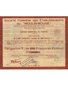 Sté Fermière des Ets du ''Moulin-Rouge''