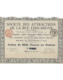 Sté des Attractions de la Rue Edouard-VII