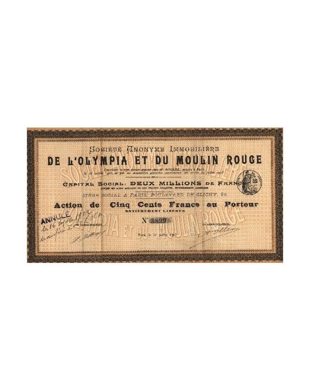 Sté Immobilière de l'Olympia et du Moulin-Rouge