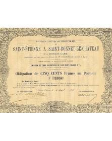 Cie du Chemin de Fer de Saint-Etienne à Saint-Bonnet-le-Chateau Rhône-Alpes/Loire 42
